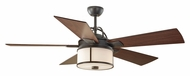 Monte Carlo Fans 5DKR52ESD Dakota Espresso 52 Inch Wide Indoor/Outdoor Ceiling Fan