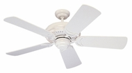 Monte Carlo Fans 5DS44WH Designer Supreme II White 44 Inch Wide Home Ceiling Fan