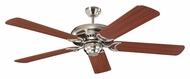 Monte Carlo Fans 5DS52BS Designer Supreme Brushed Steel 52 Inch Wide Home Ceiling Fan