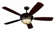 Monte Carlo Fans 5ED56RBD Drawing Room Roman Bronze 56 Inch Wide Traditional Indoor/Outdoor Ceiling Fan