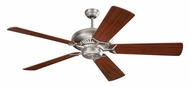 Monte Carlo Fans 5GP60BS Grand Prix Brushed Steel 60 Inch Wide Ceiling Fan