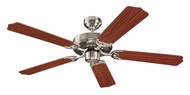 Monte Carlo Fans 5HM52BS Homeowner Max Brushed Steel 52 Inch Wide Ceiling Fan