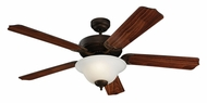 Monte Carlo Fans 5HM52RBD Homeowner Max Plus Roman Bronze 52 Inch Wide Home Ceiling Fan