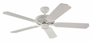 Monte Carlo Fans 5HM52WH Homeowner Max White 52 Inch Wide Home Ceiling Fan