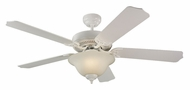 Monte Carlo Fans 5HM52WHD Homeowner Max Plus White 52 Inch Wide Ceiling Fan