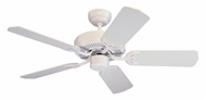 Monte Carlo Fans 5HS42WH Homeowner's Select II White 42 Inch Wide Home Ceiling Fan