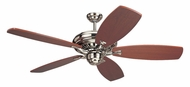 Monte Carlo Fans 5MXBS Maxima Brushed Steel 54/60/72 Inch Wide Ceiling Fan