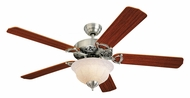 Monte Carlo Fans 5OR52EPD-L Ornate Elite English Pewter 52 Inch Wide Traditional Ceiling Fan