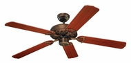 Monte Carlo Fans 5OR52RB Ornate Roman Bronze 52 Inch Wide Traditional Home Ceiling Fan