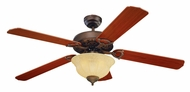 Monte Carlo Fans 5OR52RBD-L Ornate Elite Roman Bronze 52 Inch Wide Traditional Ceiling Fan