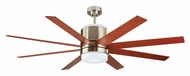 Monte Carlo Fans 8ARR58BSD Araya Brushed Steel 58 Inch Wide Contemporary Home Ceiling Fan