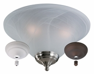 Monte Carlo Fans MC04-L White Faux Alabaster Glass Light Kit