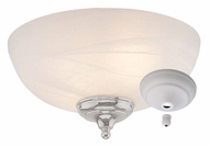 Monte Carlo Fans MC49-L White Faux Alabaster Glass Light Kit