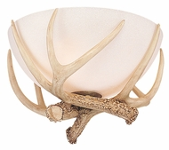 Monte Carlo Fans MC79-L Antler Bowl Antique White Scavo Glass Light Kit