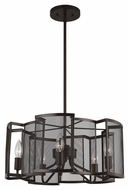 Murray Feiss F2906-5HTBZ Gemini Contemporary Heritage Bronze Finish 9.875  Tall Chandelier Lighting