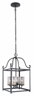 Murray Feiss F2907-4AF Declaration Traditional Antique Forged Iron Finish 14.625  Wide Foyer Pendant Lighting