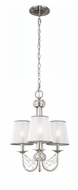 Murray Feiss F2918-3BS Aveline Modern Brushed Steel Finish 18.75  Tall Mini Chandelier Light