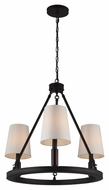 Murray Feiss F2921-3ORB Lismore Oil Rubbed Bronze Finish 23  Wide Mini Chandelier Light