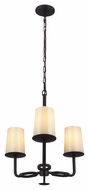 Murray Feiss F2923-3ORB Huntley Oil Rubbed Bronze Finish 19.875  Wide Mini Chandelier Light
