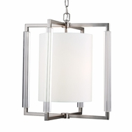 Murray Feiss F2927-3BS Fording Contemporary Brushed Steel Finish 21  Wide Pendant Light