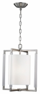 Murray Feiss F2928-2BS Fording Modern Brushed Steel Finish 19.75  Tall Lighting Pendant