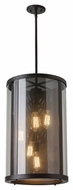 Feiss F2930-5ORB Bluffton Oil Rubbed Bronze Finish 24.75  Tall Drum Pendant Lamp