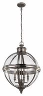 Murray Feiss F2931-4ANL Adams Contemporary Antique Nickel Finish 19.625  Wide Mini Lighting Chandelier