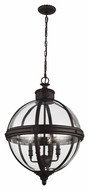Murray Feiss F2931-4ORB Adams Modern Oil Rubbed Bronze Finish 26.75  Tall Mini Chandelier Lamp