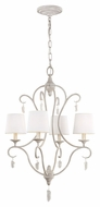 Murray Feiss F2932-4CHKW Caprice Chalk Washed Finish 21.5  Wide Mini Chandelier Light