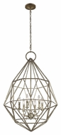 Murray Feiss F2942-6BUS Marquise Contemporary Burnished Silver Finish 38.75  Tall Chandelier Light