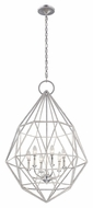 Murray Feiss F2942-6SLV Marquise Modern Silver Finish 24.5  Wide Ceiling Chandelier