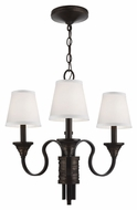 Murray Feiss F2945-3AZ-WBR Arbor Creek Arbor Bronze / Weathered Brass Finish 20.25  Tall Mini Chandelier Lighting