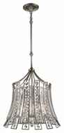 Murray Feiss F2946-4-ESL Soros Contemporary Ebonized Silver Leaf Finish 20.25  Wide Mini Lighting Chandelier