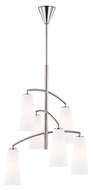 Murray Feiss F2949-6BS Coddington Modern Brushed Steel Finish 47  Tall Mini 6 Light Chandelier Light