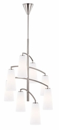 Murray Feiss F2950-8BS Coddington Contemporary Brushed Steel Finish 19  Wide Mini 8 Light Ceiling Chandelier
