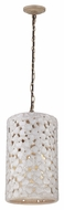 Feiss F2951-4WTPC-BD Azalia Modern White Taupe Ceramic / Beach Wood Finish 22  Tall Pendant Light Fixture