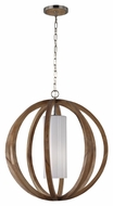 Murray Feiss F2952-1LW-BS Allier Contemporary Light Wood / Brushed Steel Finish 26  Wide Pendant Lighting Fixture