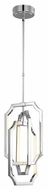Murray Feiss F2954-6PN Audrie Modern Polished Nickel Finish 25.875  Tall LED Mini Chandelier Light