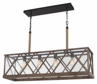 Feiss F2957-4DWO-ORB Lumiere' Country Dark Weathered Oak / Oil Rubbed Bronze Finish 9  Wide Lighting For Bathroom