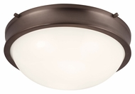 Murray Feiss FM379CLT Turner Chocolate Finish 12.875  Wide Ceiling Light