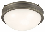 Feiss FM379SBZ Turner Satin Bronze Finish 12.875  Wide Ceiling Lighting Fixture