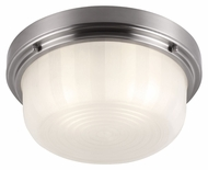 Feiss FM381BS Elliot Brushed Steel Finish 5.5  Tall Flush Mount Lighting