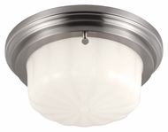 Murray Feiss FM382BS Portia Brushed Steel Finish 4.875  Tall Flush Mount Light Fixture
