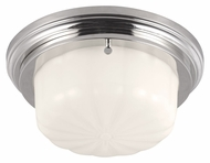 Feiss FM382PN Portia Polished Nickel Finish 11.25  Wide Flush Mount Lighting Fixture