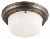 Feiss FM382SBZ Portia Satin Bronze Finish 4.875  Tall Flush Ceiling Light Fixture