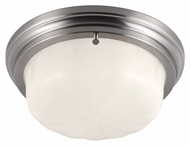 Murray Feiss FM383BS Portia Brushed Steel Finish 13.25  Wide Flush Mount Ceiling Light Fixture