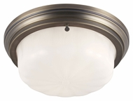 Feiss FM383SBZ Portia Satin Bronze Finish 13.25  Wide Overhead Light Fixture