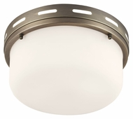 Feiss FM385SBZ Manning Satin Bronze Finish 11.25  Wide Flush Mount Lighting