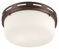Murray Feiss FM386CLT Manning Chocolate Finish 13.25  Wide Flush Mount Light Fixture