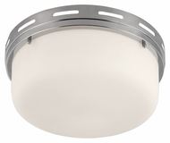 Murray Feiss FM386PN Manning Polished Nickel Finish 5.375  Tall Flush Mount Lighting Fixture